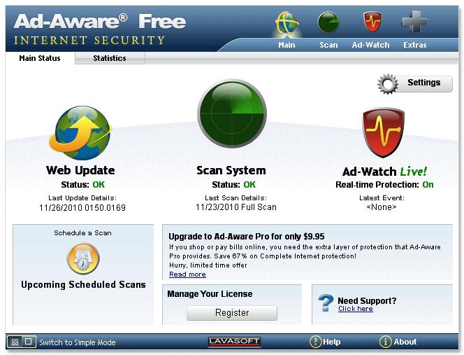 Описание: Компания LavaSoft обновила бесплатную программу Ad-Aware Free до