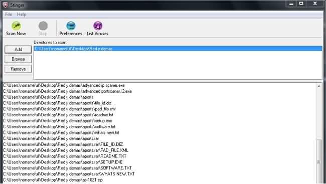 Detectar y eliminar malware con stinger-3