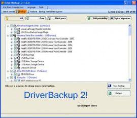 DiverBackup restaura y copia de seguridad de drivers