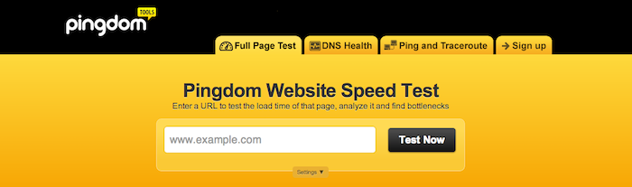 pingdom speed