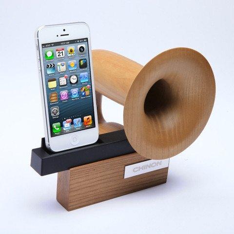 Handcrafted Passive iPhone Speaker Dock
